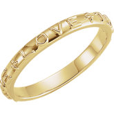 "14K Yellow ""True Love"" Ring, Size 5"